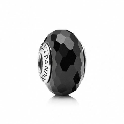 Authentic PANDORA 925 Sterling Silver Charm Fascinating Black Murano 791069