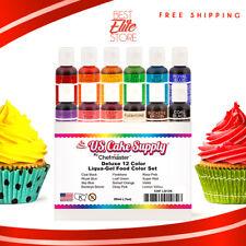 12 Color Cake Food Coloring Liqua-Gel Decorating Baking Set ...