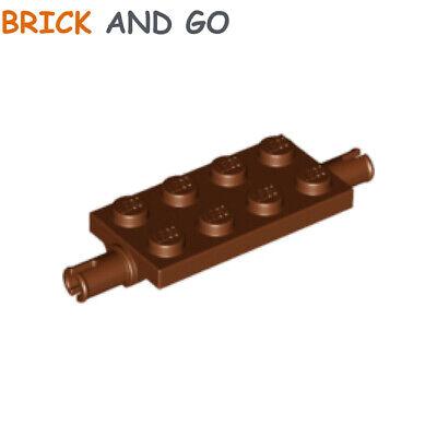 LEGO 15 x Achse Radhalter neuhell grau newgrey plate 2x4 with pins 30157 4211572