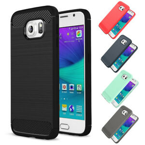 Samsung-Galaxy-S6-Carbono-Funda-de-Exterior-Panzer-Carcasa-Cover-Hibrido