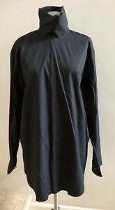 NWOT-DRIES-VAN-NOTEN-Oversized-Cotton-Shirt-Blouse-Size-42-US-8-Black