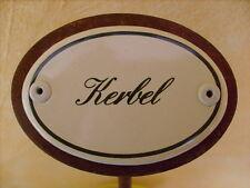 Kräuterschild Kräuterstecker Pflanzschild Emaille Emailschild Kerbel 25cm