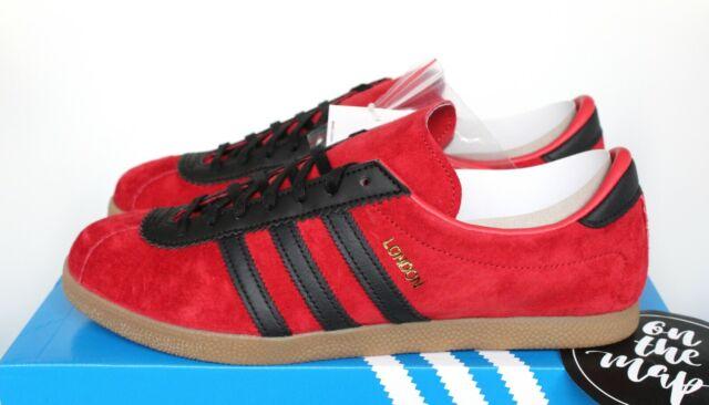huge discount d2fe1 1e742 Adidas Originals London Scarlet Red Black City Series UK 5 7 8 9 10 11 12  13 US