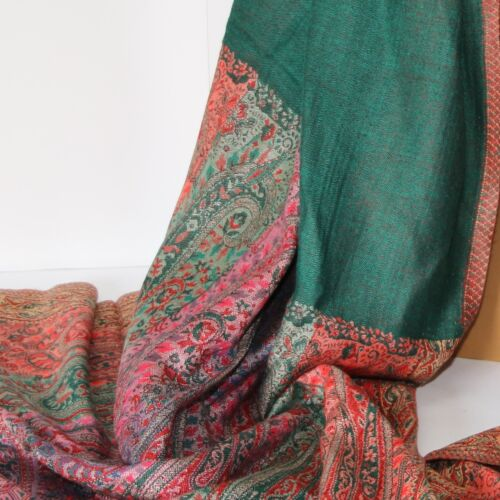 SCIARPA Sciarpa da Donna Paisley Sciarpa Orient 215 x 75 viscosa svolta SCIARPA VERDE COLORATO C
