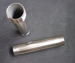 "STAINLESS STEEL REDUCER NIPPLE 3//8/"" x 1//4/"" NPT PIPE RN-037-025"