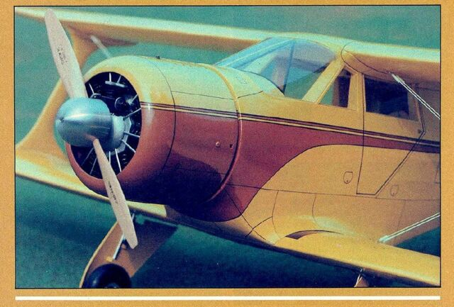 1/6 Scale Beechcraft D-17S Staggerwing 64 inch  Span RC AIrplane PDF Plans on CD