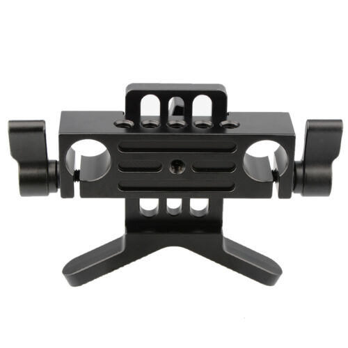 Soporte de lente camvate 15mm M5 bloque de carril Abrazadera De La Barra Para DSLR Rig Soporte Varilla de agujero