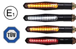4x-LED-Motorrad-Mini-Blinker-Tagfahrlicht-Bremslicht-Sequentiell-Lauflicht-TUV