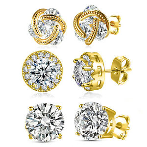 QVC-Set-of-3-Studs-Gift-Box-in-18K-White-Gold-with-Swarovski-Crystals-ITALY