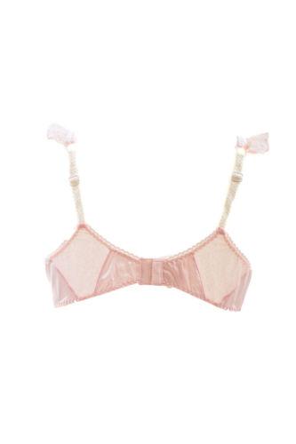 de para mujer acolchado Bcf88 Rrp 200 con color rosa Agent no Provocateur suave Sujetador adornos encaje £ IpgwIAq