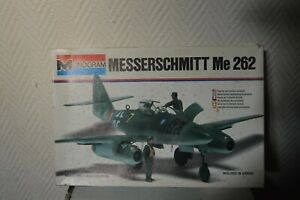 MAQUETTE-MONOGRAM-AVION-MESSERSCHMIDT-ME-262-1-48-MODEL-KIT-PLANE-PLANO-NEUF