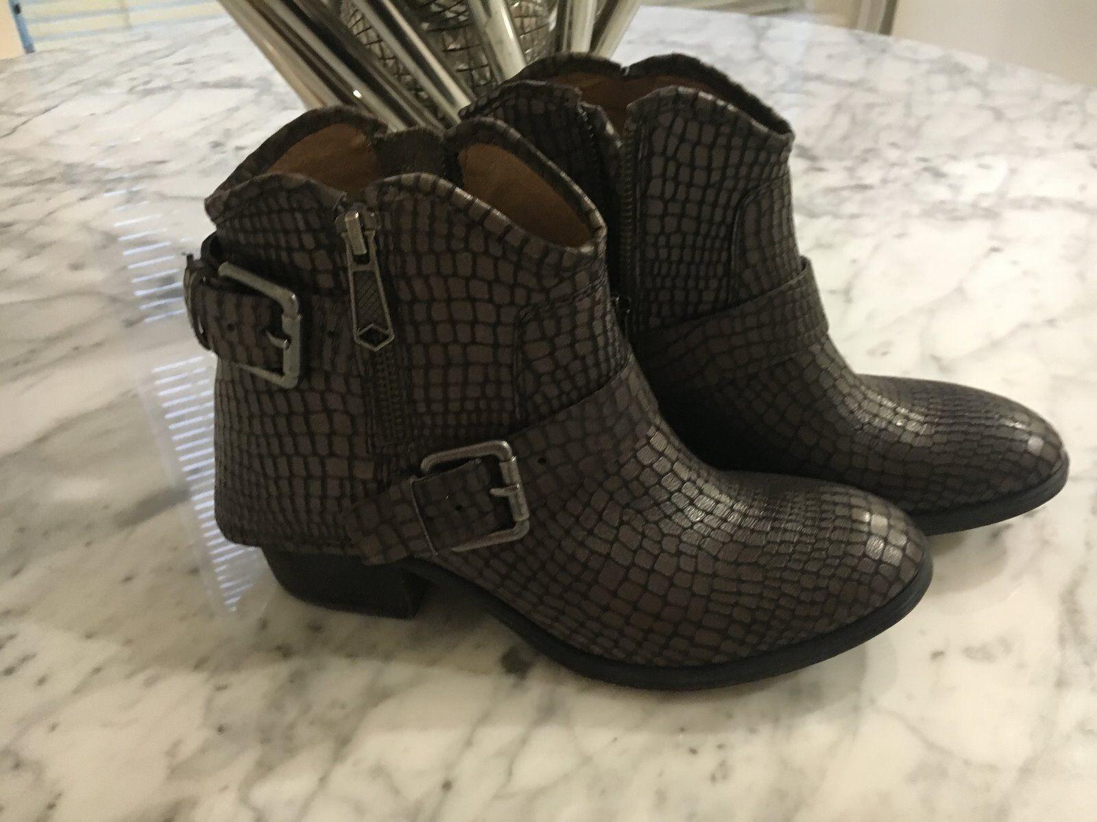 280 NEW Donald J Pliner Braun Dalis Vintage Python Leder Stiefel Ankle Stiefel Leder US 5 d241de