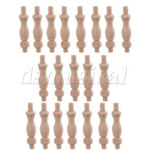 20PCS H-84 Wood Art Spindle Baluster Unfinished Spindles Rod Decoration