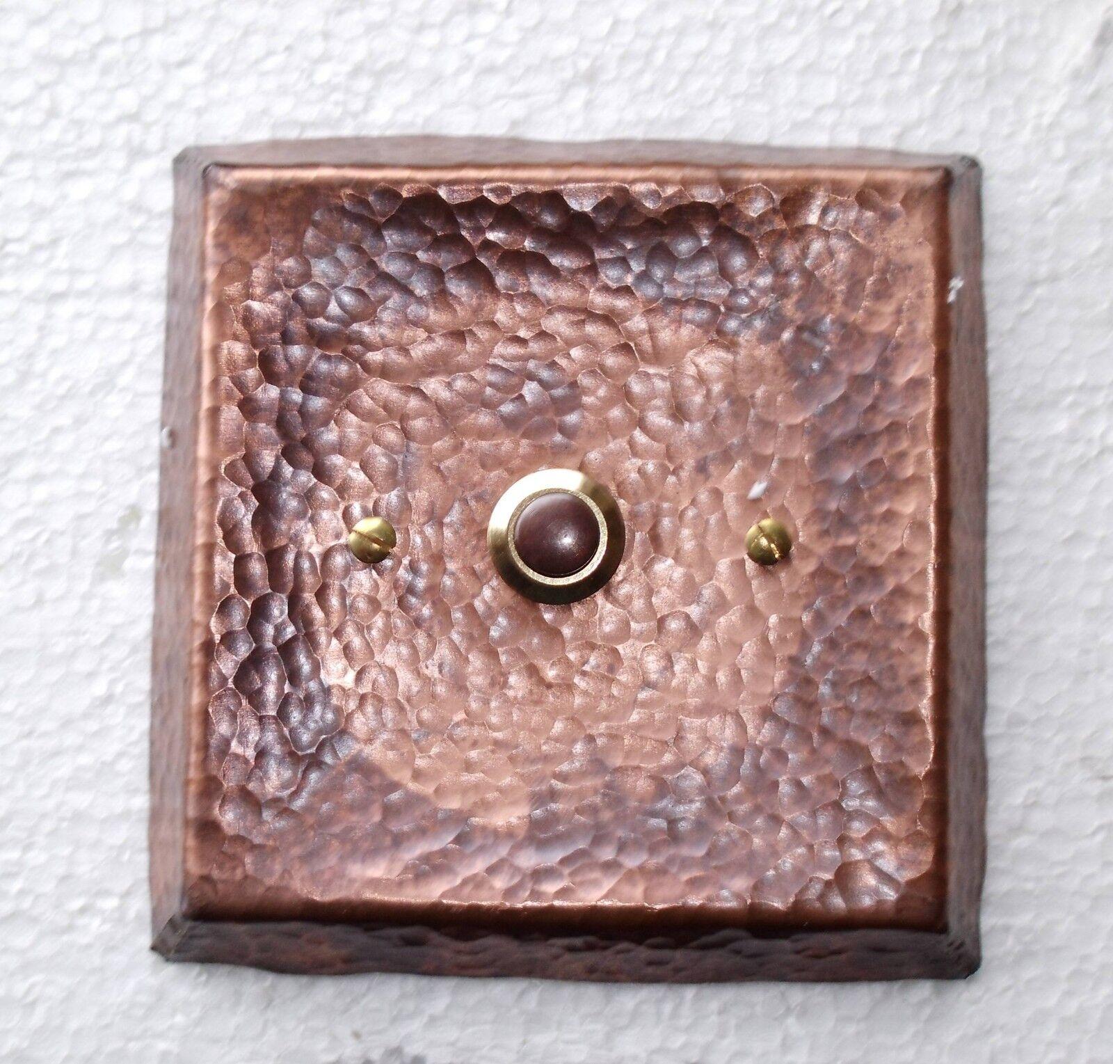 Klingelknopf Klingelplatte Klingeltaster Kupfer NEU Klingel Kupferklingelknopf