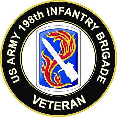 "198th Infantry Brigade Veteran 5.5/"" Sticker Decal"