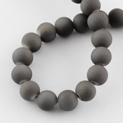 "133 Black Glass Beads Rubberized Glass 6mm Bulk Wholesale 32/"" Strand"