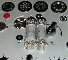 2 Amperex EL84 6BQ5 nice matched pair rX4 Heerlen Holland tubes valves