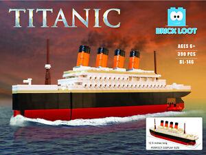 Grand-Titanic-Navire-Modulaire-Construction-Briques-Blocs-390-pieces