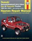 Suzuki Samurai/Sidekick/X-90/Vitara and Geo/Chevrolet Tracker Automotive Repair Manual: 1986 to 2001 by J. H. Haynes, Bob Henderson (Paperback, 2001)