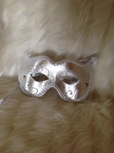 MASQUERADE BALL PARTY CARNIVAL MARDI GRAS CAT MASK WITH GLITTER VARIOUS COLOURS