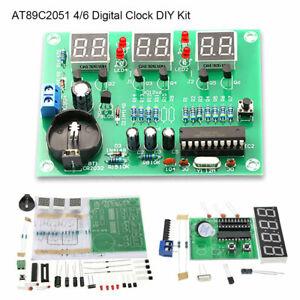 9V-12V-AT89C2051-4-6-Digital-LED-Electronic-Clock-Components-DIY-Kit-Module-NEW