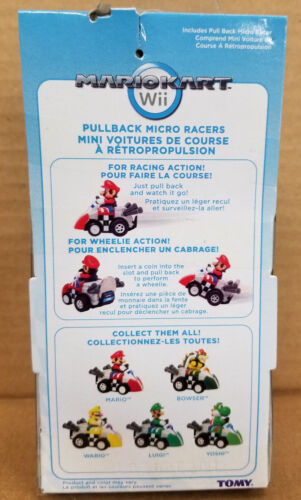 Tomy MARIO KART WII YOSHI PULL BACK RACER OFFICIALLY LICENSED
