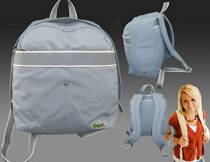93b0c24d002cf New Vintage LACOSTE BACKPACK Rucksack Bag new City Casual 10 Smoke ...
