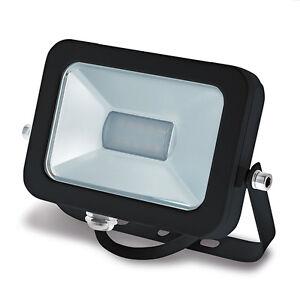 LED Außenstrahler Fluter PRO Slim 10Watt 10W 900 Lumen 3000K warmweiß schwarz