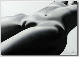 Original-Nude-Painting-034-Body-Landscape-034-Erotic-Painting-UNIQUE-100-Hand-Painted