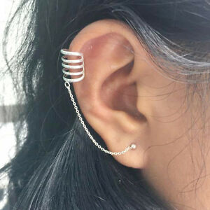 Image Is Loading 925 Sterling Silver Boho Ear Cuff Wrap Earring