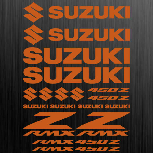 SUZUKI RMX 450 sticker motorcycle race tuning 18 Pieces