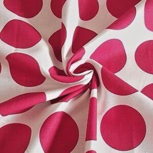 Giant-Deep-Pink-Polka-Dots-Fenton-House-100-Cotton-Fabric-Gutermann-Home-Decor