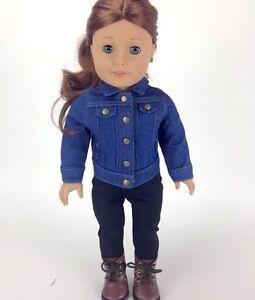 Adorable-Denim-Jacket-Fits-American-Girl-Doll-Boy-Logan-Fits-18-034-Dolls