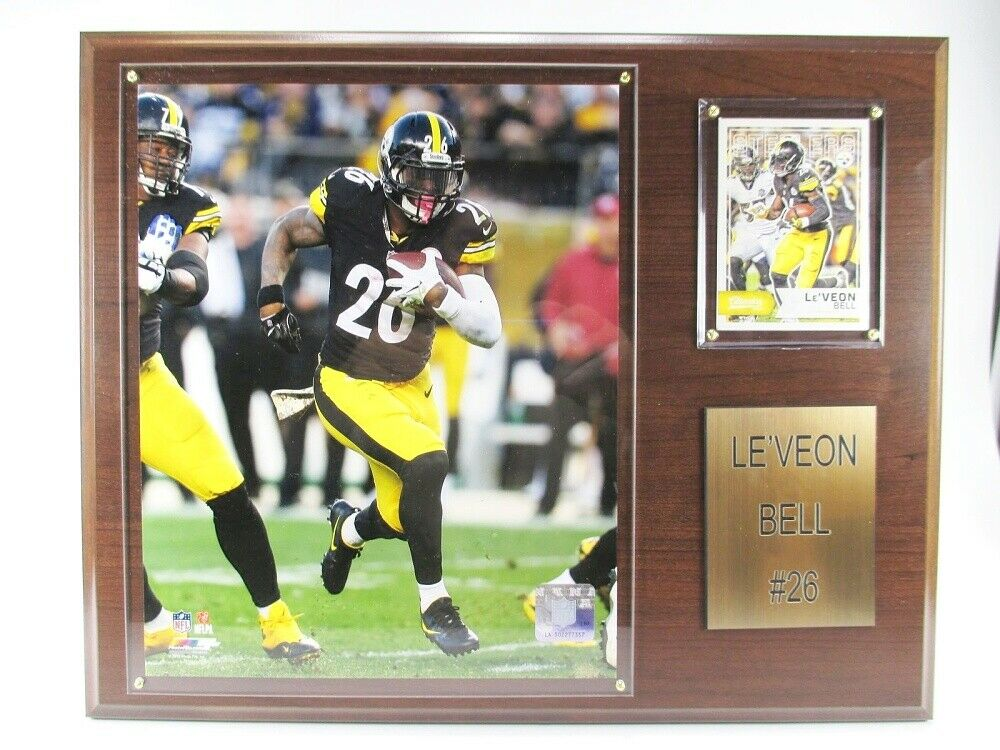 Le´Veon Bell Pittsburgh Steelers Holz Wandbild 38cm,Plaque NFL Football