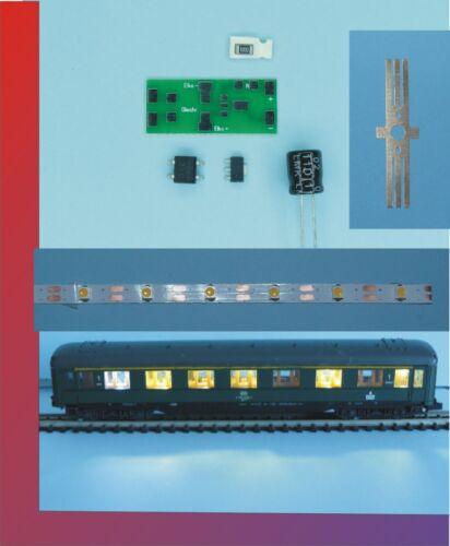 Radschleifer Waggonbeleuchtung analog und digitale H0 komplette Sets incl