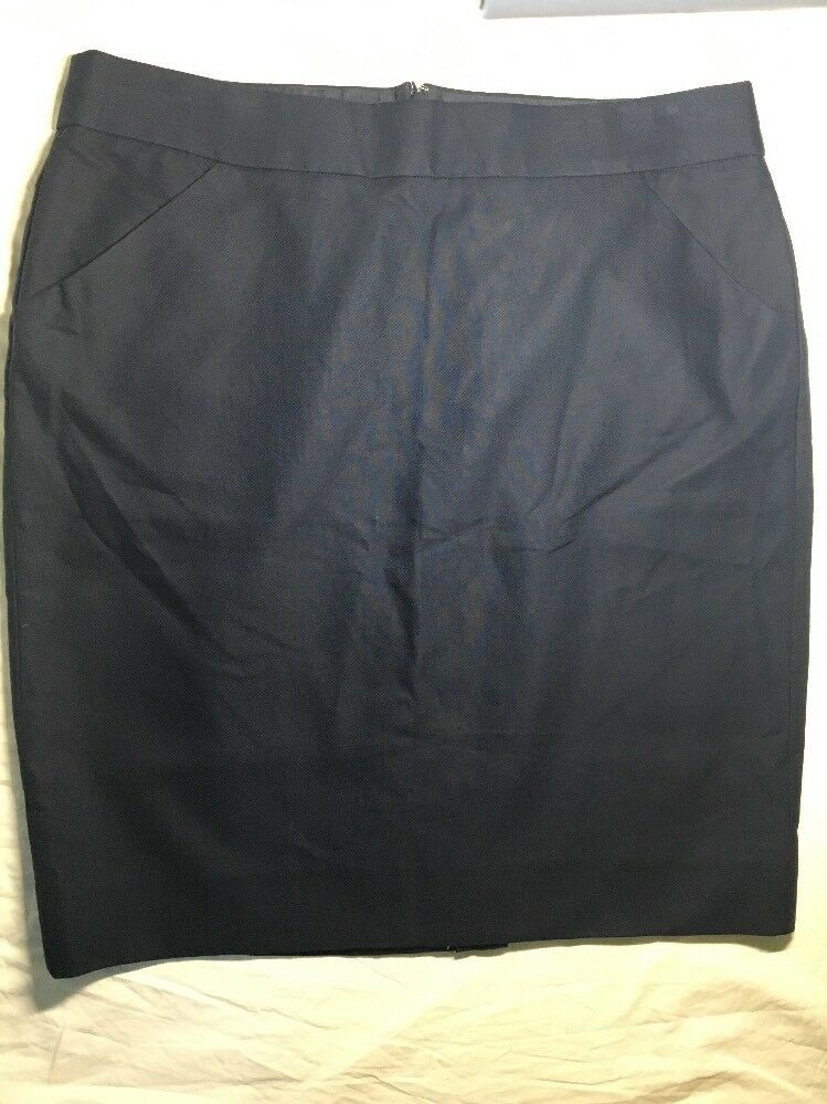 J.CREW Pencil skirt Navy 14 (Actual waist  36 inches ) 37415