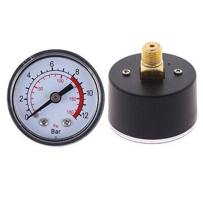 1pc 0-180PSI Air Compressor Pneumatic Hydraulic Fluid Pressure Gauge 0-12Bar US