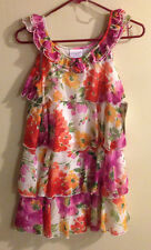 Iris & Ivy Girls Ladies Dress - Multi Colored Flowers Floral - Size 14 - NWT NEW