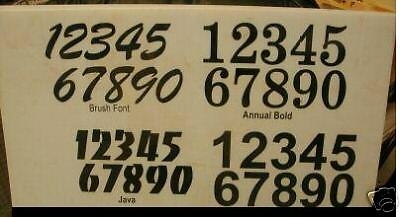 "RACING NUMBERS 4.5/"" TALL"