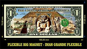 IRON-MAIDEN-POWERSLAVE-IMAN-BILLETE-1-DOLLAR-BILL-MAGNET