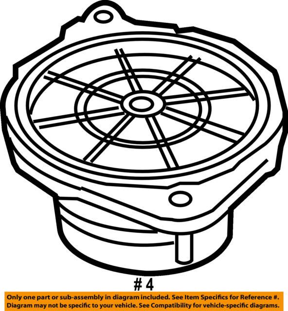 Porsche 997 C2s Speaker 911 05 08 987 Carrera Cayman Boxster Oem For