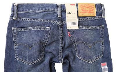 NEW LEVI'S 527 MEN'S CLASSIC SLIM FIT BOOTCUT LEG JEANS  BLUE SIZE 527-4257