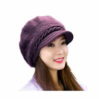 Women Fashion Winter Hats Hindawi Crochet Knit Warm Snow Cap Wi... Free Shipping