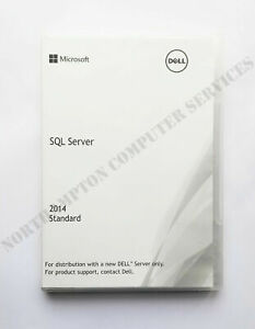 Microsoft SQL Server 2014 Standard Edition DELL 0RDHP5 with 10 User CALs -VAT