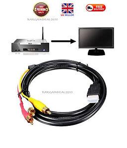 1-5-M-HDMI-male-a-3-RCA-Video-Convertisseur-audio-Composant-AV-cable-adaptateur
