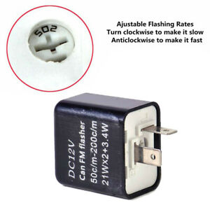 1x Universal 2 Pin Motorcycle Indicator Flasher Relay Turn Signal LED Blinker
