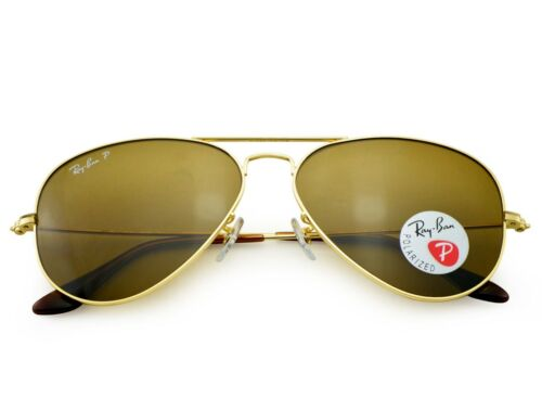 cc3c66e290 5 of 12 Ray-Ban RB3025 Aviator Classic 001 57 Gold Frame Polarized Brown  Classic B