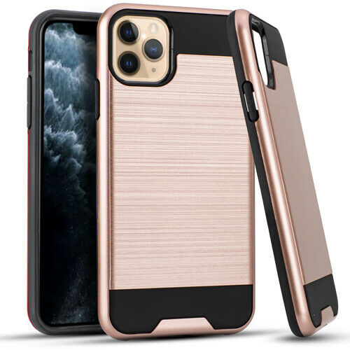 Apple iPhone 11 / Pro / Pro Max Brushed Case and a Clea