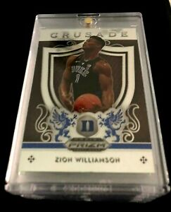 2019-20-Panini-Prizm-Draft-Picks-ZION-WILLIAMSON-Crusade-Rookie-RC-51-Mint-HOT