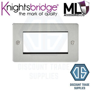 Knightsbridge Plaque Chrome Brossé-EN STOCK
